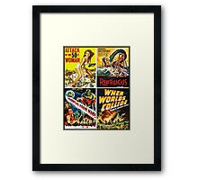 1950s Sci-Fi Poster Collection #2 Framed Print