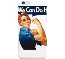 We Can Do It - War Poster iPhone Case/Skin