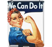 We Can Do It - War Poster iPad Case/Skin