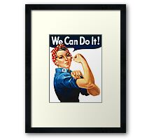 We Can Do It - War Poster Framed Print