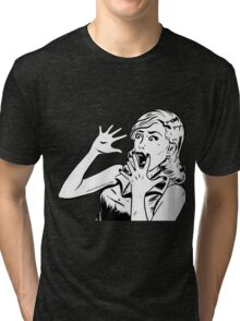 Scared Woman - Watch Dogs 2 Tri-blend T-Shirt