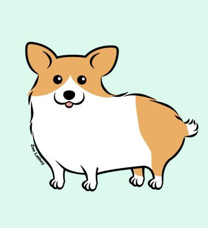 Cute Corgi Puppy Dog Sticker