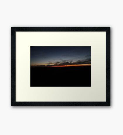 Blurry Sunset Framed Print