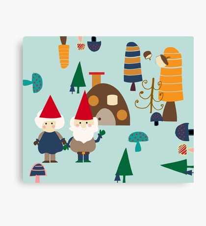 Gnome blue Canvas Print