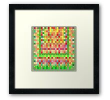 Multicolor Tapestry Framed Print