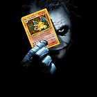 Joker holding up Pokemon Charizard card by gilbertop