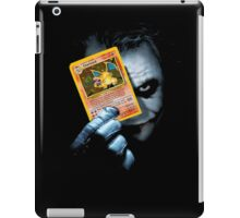 Joker holding up Pokemon Charizard card iPad Case/Skin