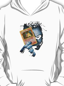 Joker holding up Pokemon Charizard card T-Shirt