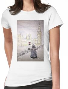 Winter Dalek Womens Fitted T-Shirt