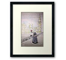 Winter Dalek Framed Print