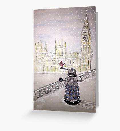 Winter Dalek Greeting Card