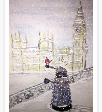Winter Dalek Sticker