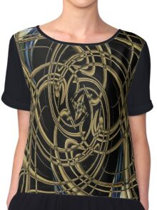 Abstract smoke art design Chiffon Top