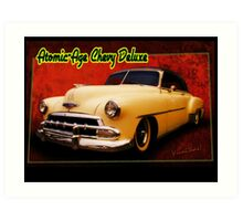 Atomic-Age Chevy Deluxe Art Print