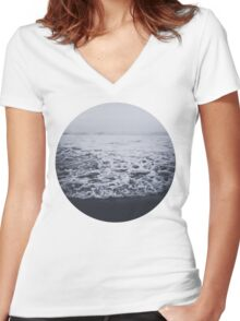 Out to Sea Women's Fitted V-Neck T-Shirt