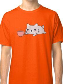 Cute Coffee Cat Classic T-Shirt