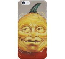 Scary Pumpkin Face iPhone Case/Skin