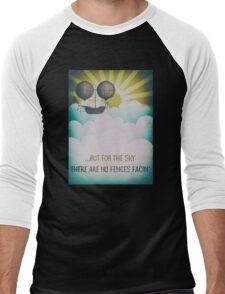 Bob Dylan Fantasy Graphic Music Lyrics Design  Men's Baseball ¾ T-Shirt
