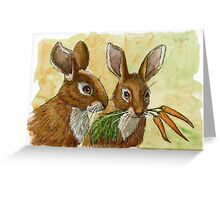 Funny Rabbits - Little Gift for You 529 Greeting Card