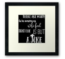 Bob Dylan - All Along The Watchtower Rock Lyrics Quote Framed Print