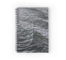 Baltic Sea Wave Spiral Notebook