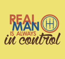 REAL MAN is always in control (3) One Piece - Short Sleeve