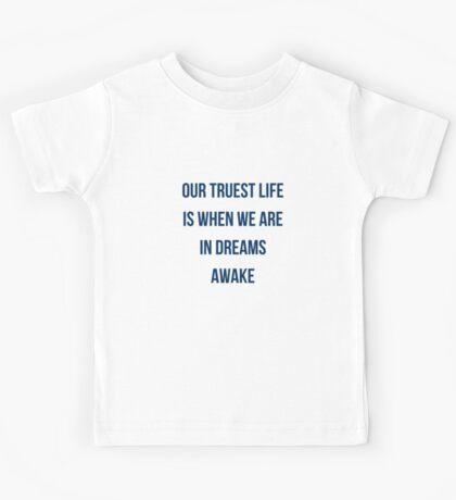 In dreams awake Kids Tee