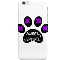 BARK AGAINST VIOLENCE iPhone Case/Skin