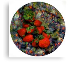 Klimt Strawberry Salad Canvas Print