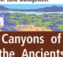 Canyon of the Ancients National Monument Sign, Colorado Sticker