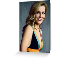 Gillian Anderson oil color painting  Greeting Card