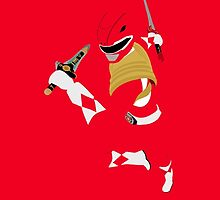 Mighty Morphin Red Power Ranger iPhone / iPad case by simplepete