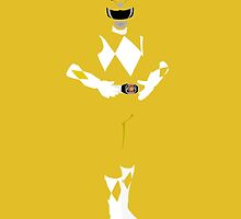 Mighty Morphin Yellow Power Ranger iPhone / iPad case by simplepete