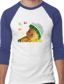 Baby doll with butterflies Men's Baseball ¾ T-Shirt