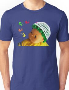Baby doll with butterflies Unisex T-Shirt