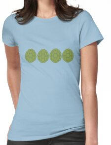 TMNT green shells (white) Womens Fitted T-Shirt
