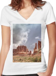 Red Rocks Country Women's Fitted V-Neck T-Shirt