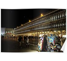 St Mark's Square at night Poster