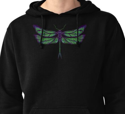 Dragonfly - Dark Colours Pullover Hoodie