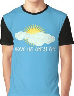 Imagine - John Lennon - Above Us Only Sky Lyrics Text Graphic T-Shirt