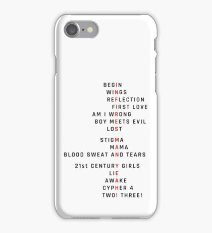 BTS Wings Theory: Infires iPhone Case/Skin