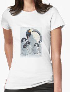Emperor penguin babies 515 Womens Fitted T-Shirt