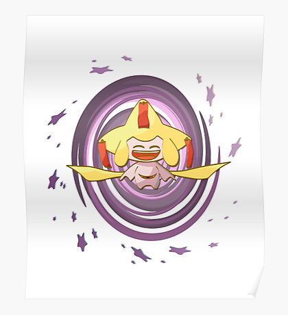 Shiny happy Jirachi laughing Poster