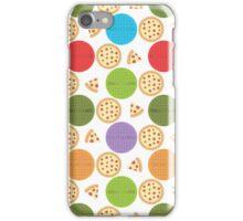 TMNT manhole covers and pizza (white) iPhone Case/Skin