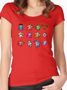 MegaMan Rainbow Women's Fitted Scoop T-Shirt