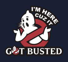 I'm here cuz it - Got Busted by lilterra.com Kids Tee