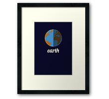 Planets - EARTH Framed Print