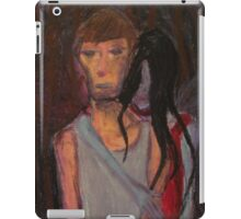 Falling Past Gray(red lady occurrence) iPad Case/Skin