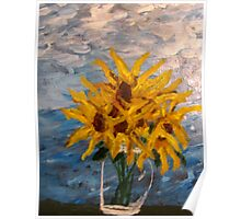 7 Sunflowers Poster