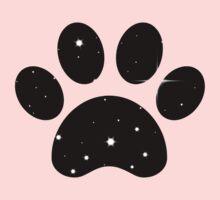 Paw Print Stars One Piece - Short Sleeve
